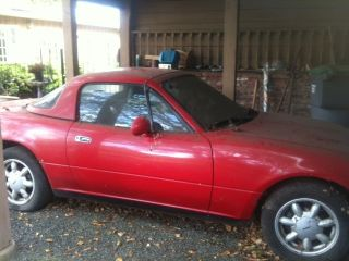 1991 Miata Mx - 5 Classic Red - 45k - Has Sat In Carport - Convertible W / Hard Top photo