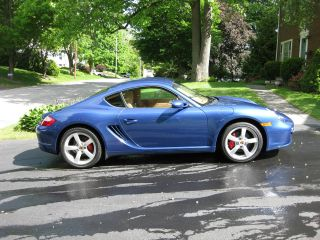 2008 Porsche Cayman S,  Extremely Cobalt Blue W / Sport Chrono Package photo