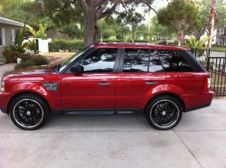 2006 Range Rover Sport Strut Edition.  Loaded.  Rimini Red / Charcoal.  22