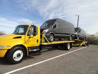 2005 International 4300 Dt466 Flatbed Tow Truck photo