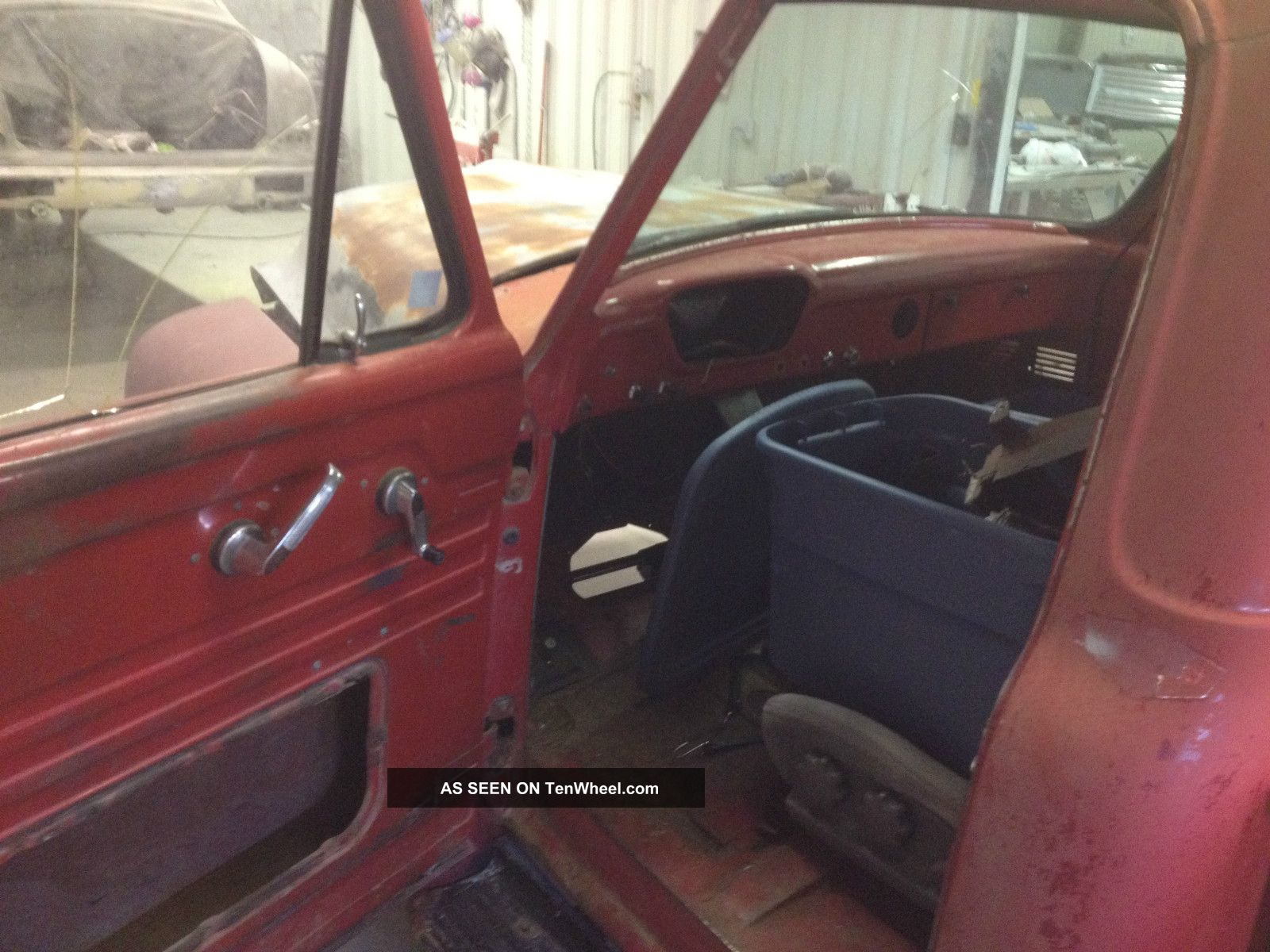 Rust And Solid 1955 Ford F100 Short Box With Title Project 428 C6