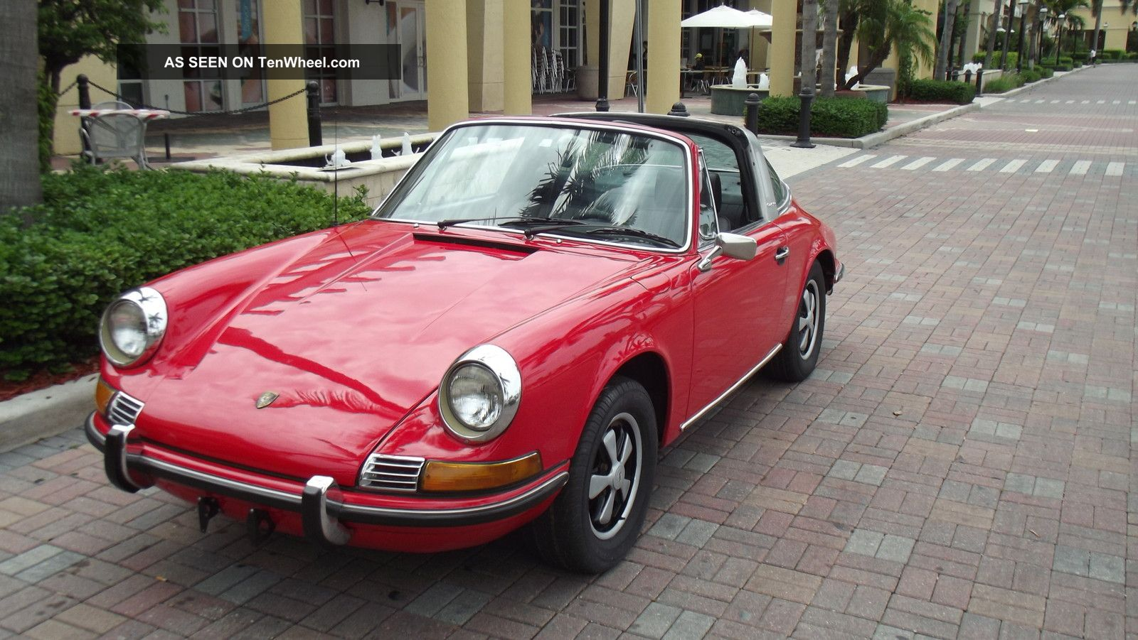 1971 porsche 911 t targa red with black car. Black Bedroom Furniture Sets. Home Design Ideas