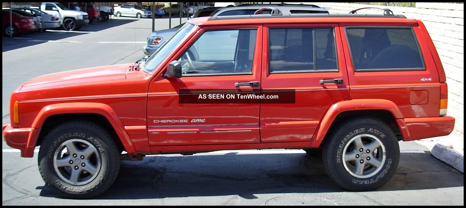 1998 Jeep Cherokee Classic Sport Suv Red 4dr 4wd 6 Cyclinder Only Cherokee photo