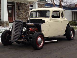 1934 Ford 5 - Window Coupe Hot Street Rat Rod Custom Un Chopped Steel 1932 1933 photo