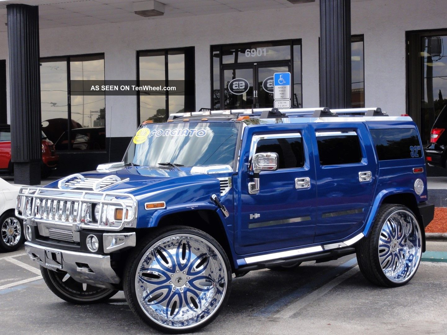 2006 hummer h2 limited edition pacific blue 32 forgiatos