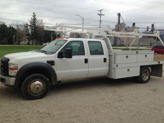 2008 Ford F 450 Flatbed Crew Cab Work Truck 6.  4 Diesel photo