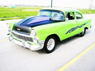 1956 Chevy Blown 350 Tubbed Custom Classic Hot Rod Street Fighter Fast - N - Load photo