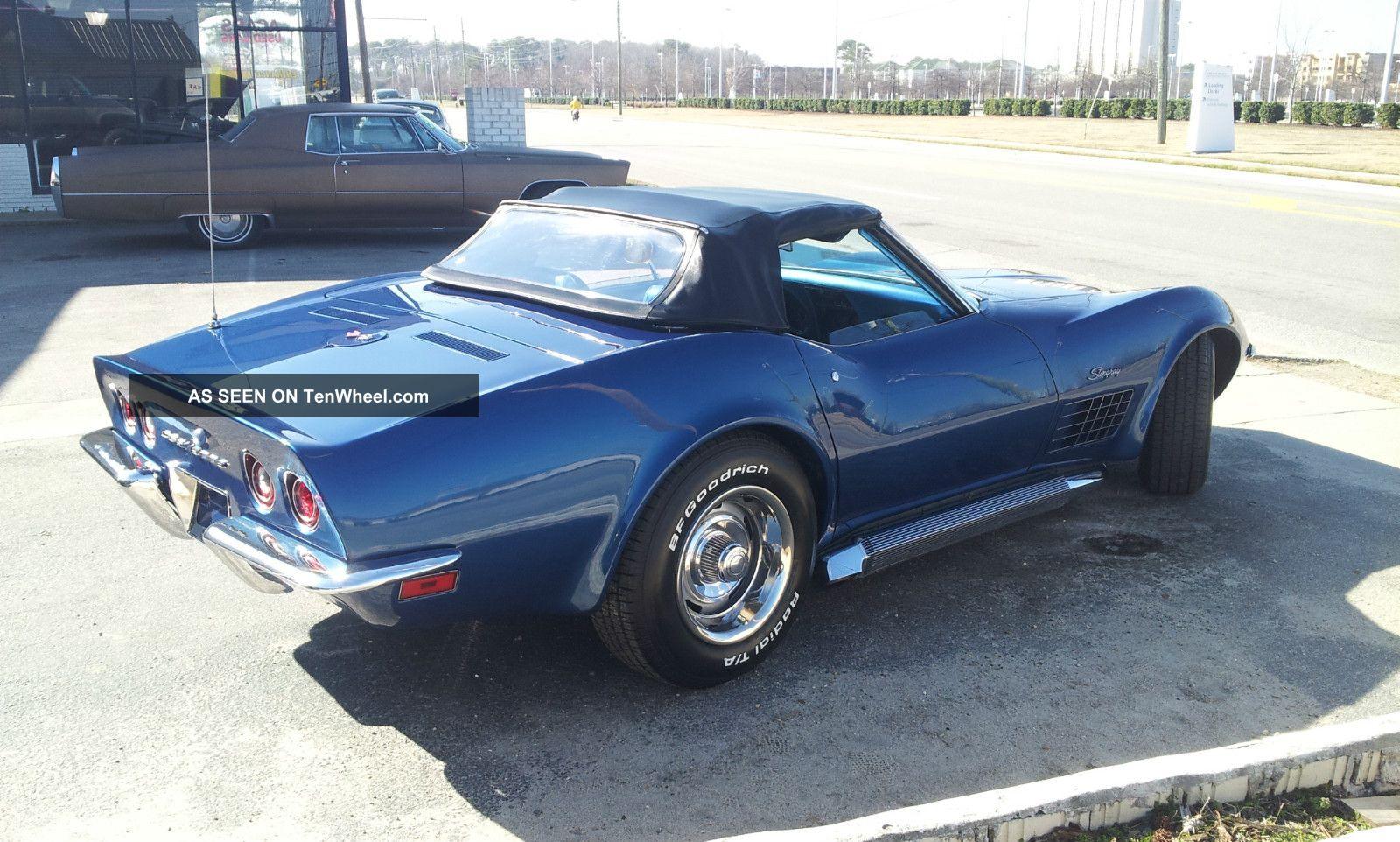 1970 Corvette Convertible Matching All Ac Hard