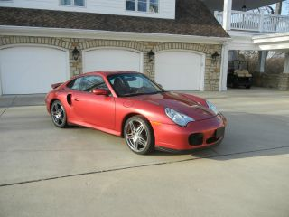 2001 Porsche 911 Twin Turbo Only 12,  600 Mi Updated Wheels And Tires.  Awd photo