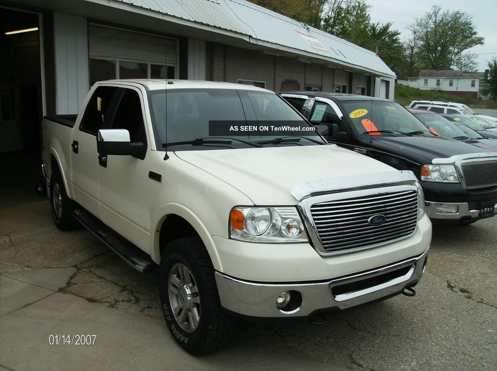 2008 ford f 150 lariat crew cab pickup 4 door 5 4l loaded ride. Black Bedroom Furniture Sets. Home Design Ideas