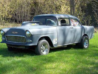 Cars trucks chevrolet bel air 150 210 web museum for 1955 chevy 4 door to 2 door conversion