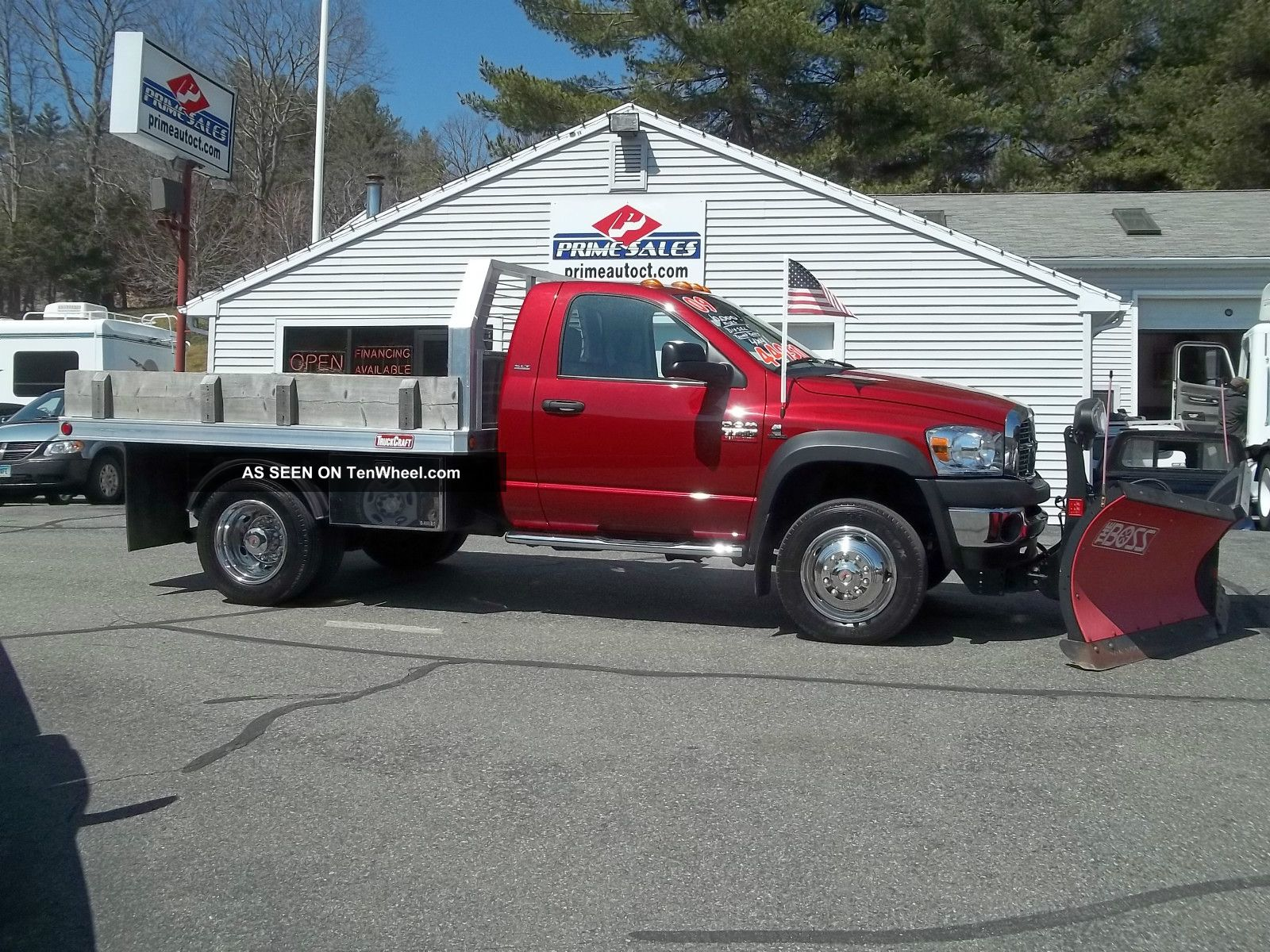 2009 Dodge Ram 5500 Cummins Diesel Flatbed Dump 4x4 Slt ...