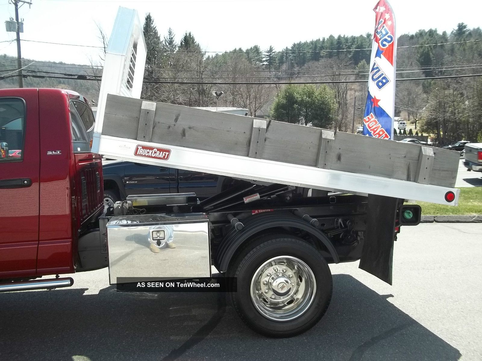 2009 Dodge Ram 5500 Cummins Diesel Flatbed Dump 4x4 Slt 9ft Boss V Plow