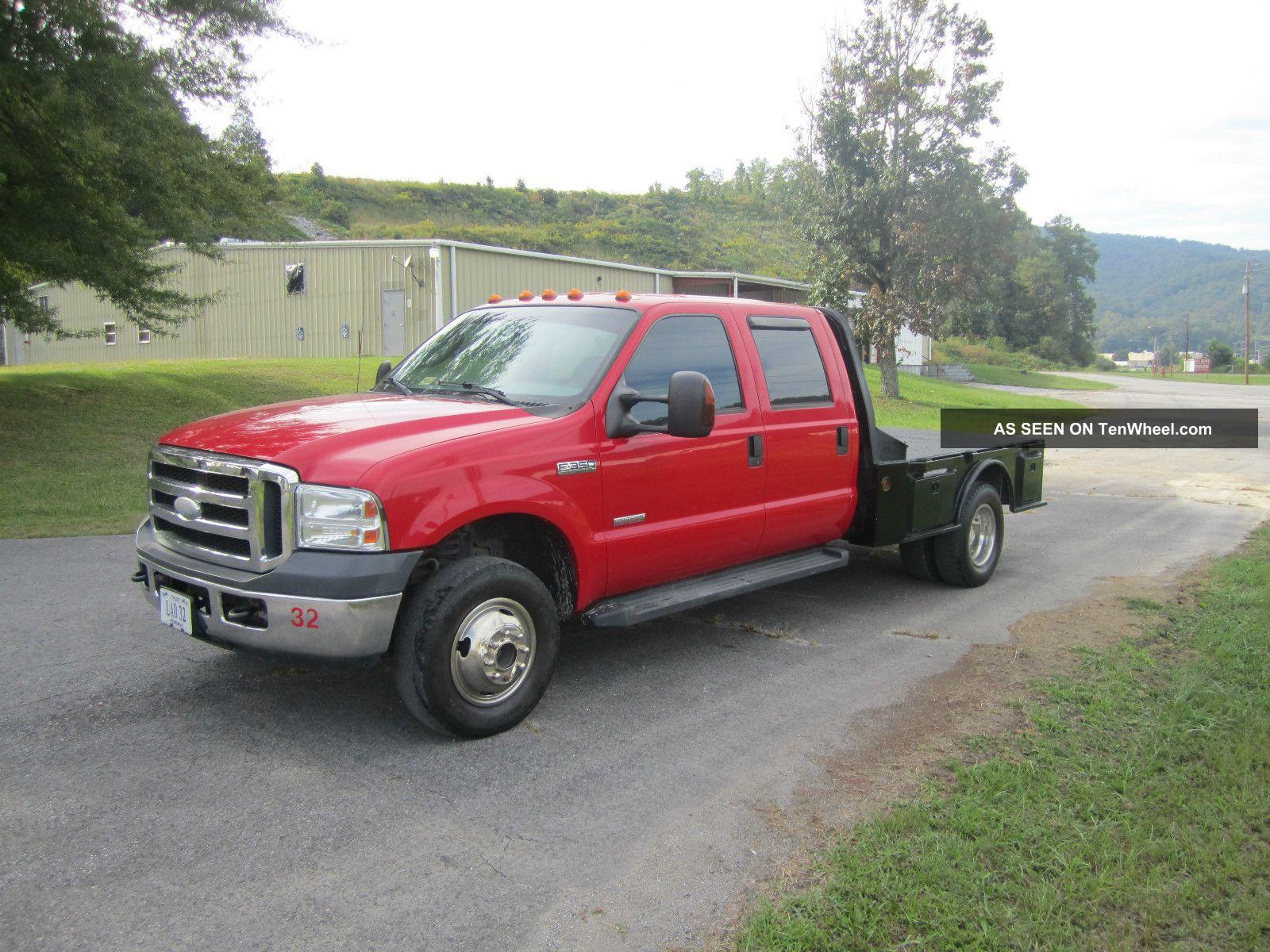2006 ford f 350 xlt 4x4 drw flatbed crew cab powerstroke diesel. Black Bedroom Furniture Sets. Home Design Ideas