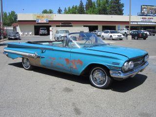 1960 Convertible Impala Project.  Great Resto Candidate,  Factory Paint,  Starts / Runs. photo