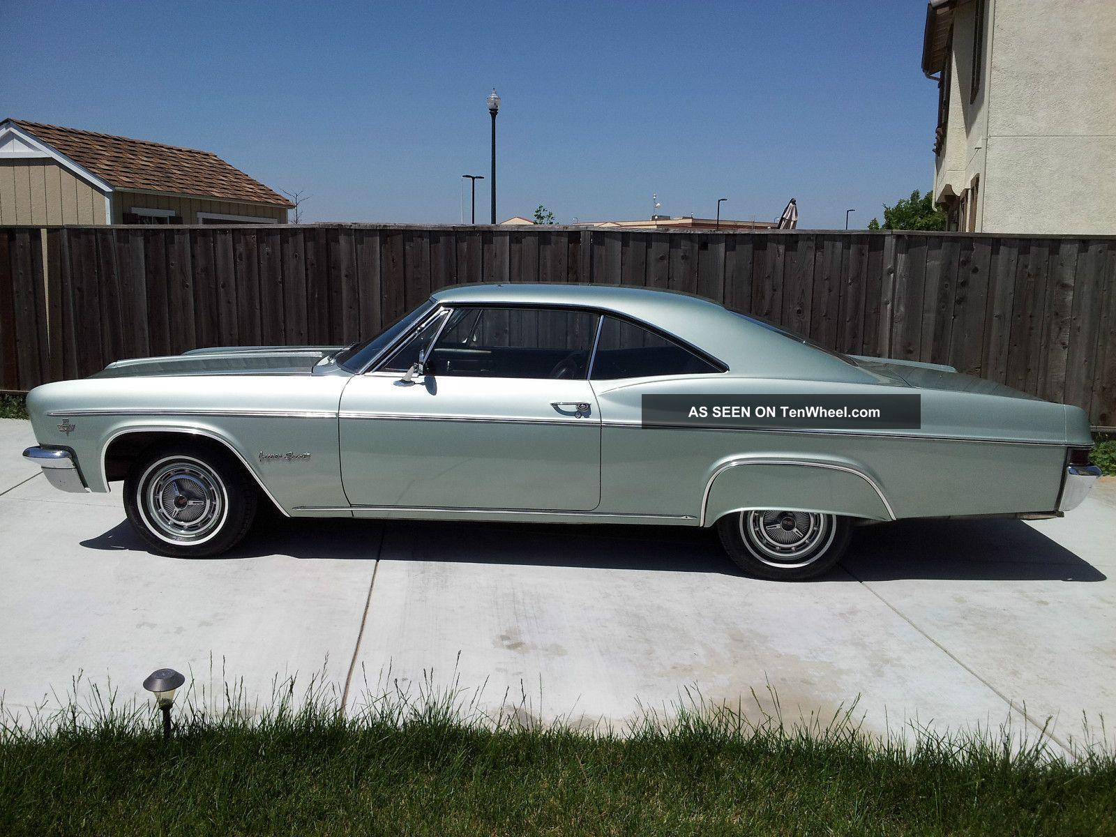 1966 Chevy Impala Ss Rare 2 Owner Garage Find Door