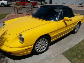 1993 Alfa Romeo Spider Veloce Convertible 2 - Door 2.  0lyellow Anniversary Edition photo