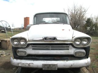 1958 Chevy Chevrolet Apache 32 Pickup Truck 1 / 2 Ton Key & Title photo