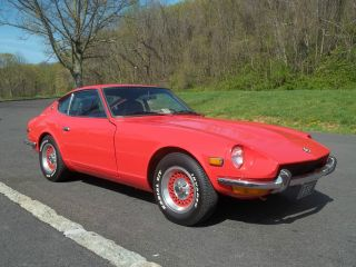 1972 Datsun 240z Antique Sports Car Orange Coupe photo