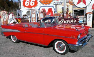 1957 Chevrolet Chevy Convertible Belair 57 photo