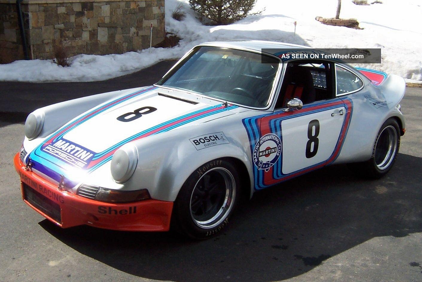 1971 Porsche 911 Vintage Road Racing Car, Martini Racing Tribute,