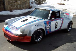 1971 Porsche 911 Vintage Road Racing Car,  Martini Racing Tribute, photo