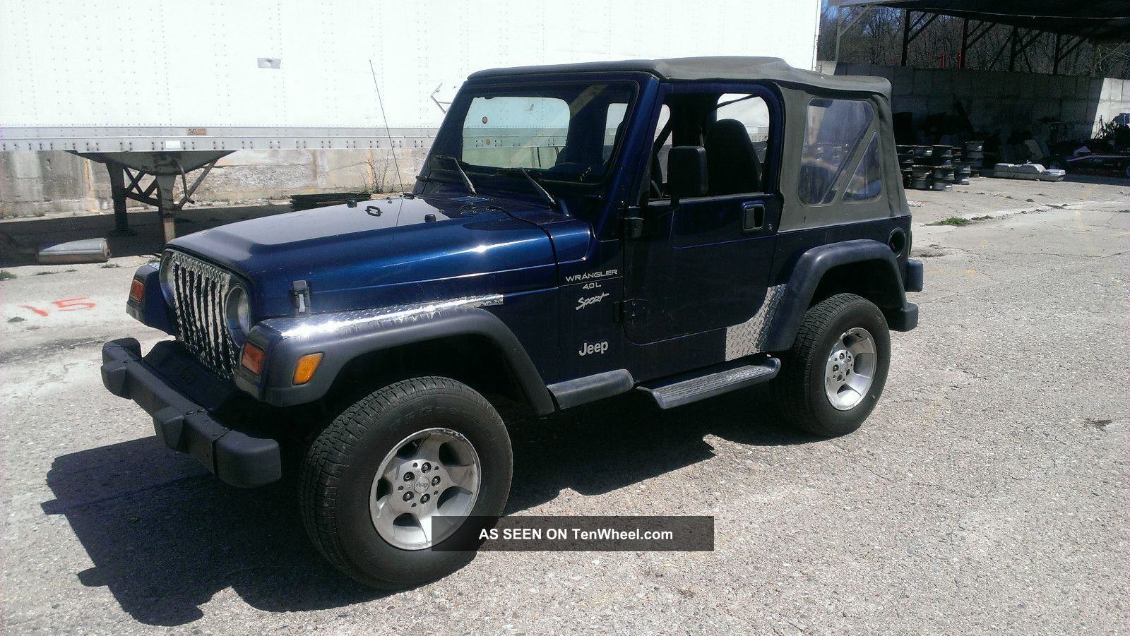 2000 jeep wrangler sport 4 0l auto soft top. Black Bedroom Furniture Sets. Home Design Ideas