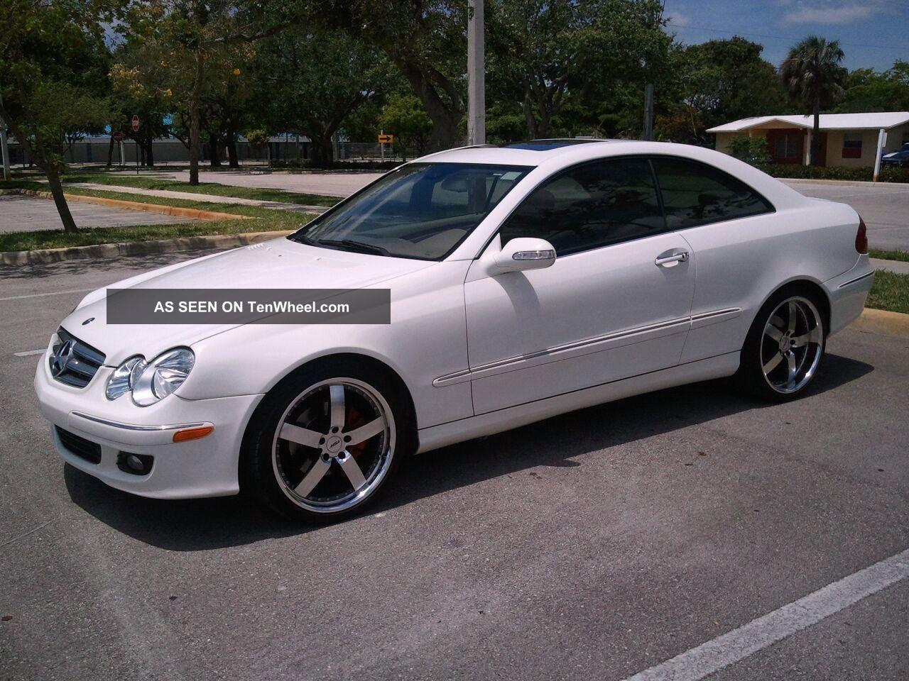 2006 white mercedes benz clk 350