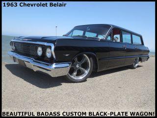 Badass 1963 Chevrolet Belair Wagon Rust - Black Plate Calif.  Car photo