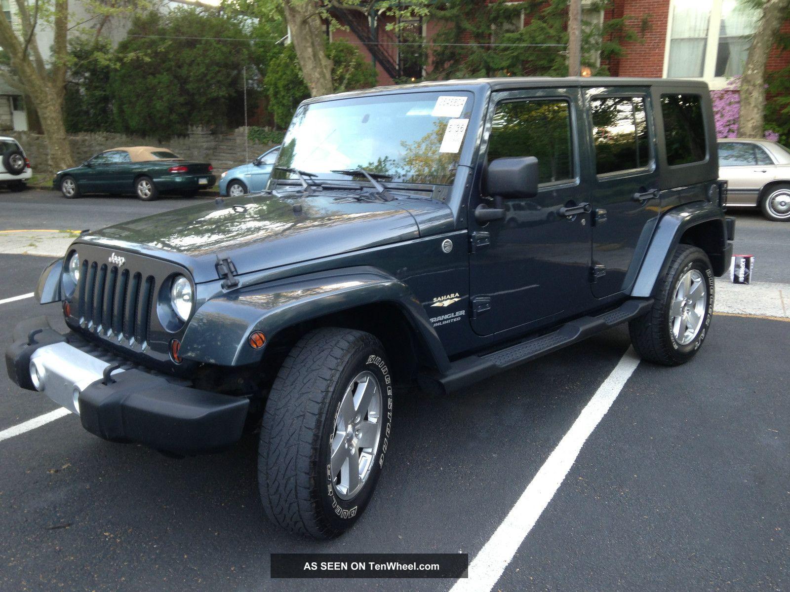 2008 jeep wrangler unlimited sahara 4x4 sport utility 4 door 3 8l. Black Bedroom Furniture Sets. Home Design Ideas