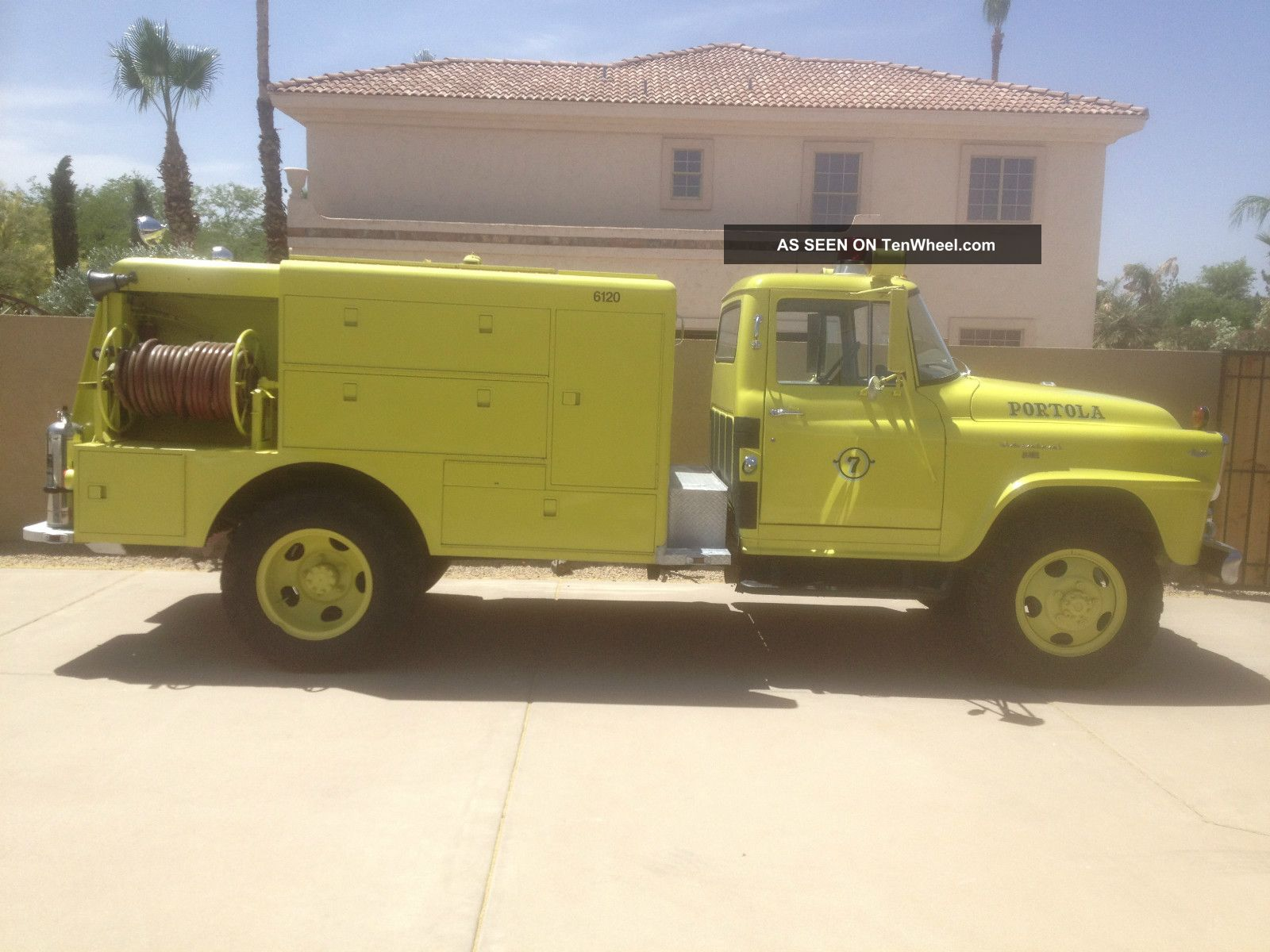 1962 International Harvester B160 Brush Attack Pumper Fire Truck Awd 4 X 4 Other photo