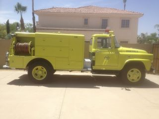 1962 International Harvester B160 Brush Attack Pumper Fire Truck Awd 4 X 4 photo