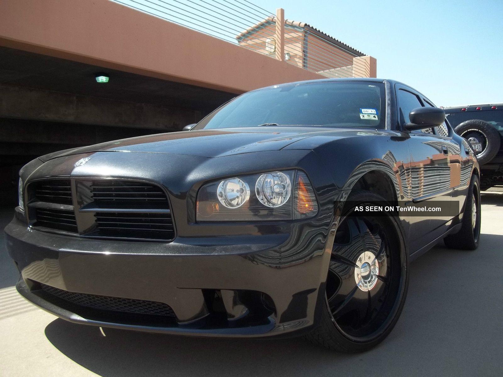 Custom Black 2007 Dodge Charger Srt Police Package Hemi 5 7