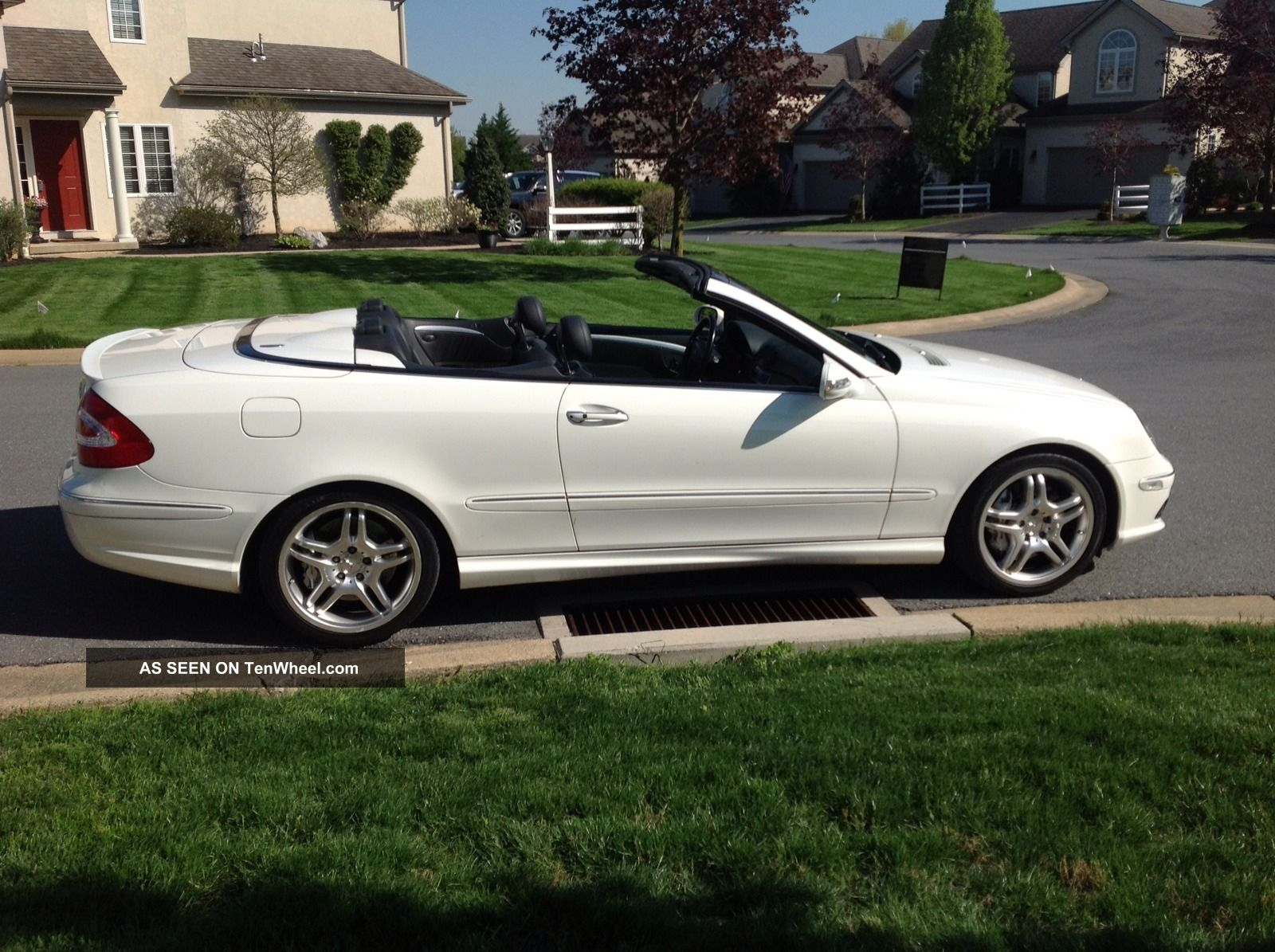 2005 mercedes benz clk55 amg convertible white black. Black Bedroom Furniture Sets. Home Design Ideas