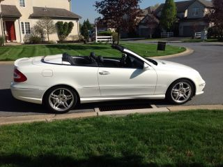 2005 Mercedes - Benz Clk55 Amg Convertible White / Black 58k Great Shape photo