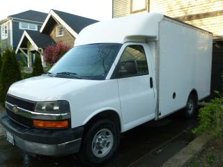 2003 Chevy Express,  Cutaway Box Truck 155,  765 Mi photo