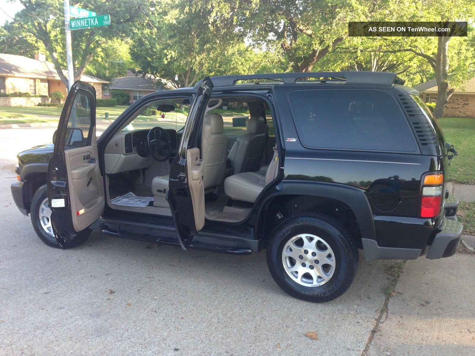 2006 Chevrolet Tahoe Z71 Sport Utility 4 Door 5 3l Black Chevy Loaded