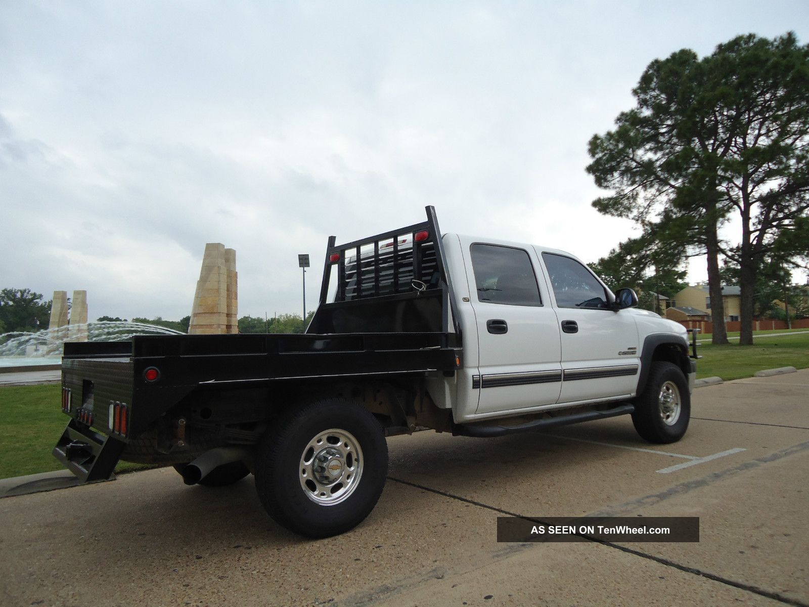 2002 Chevrolet Silverado 2500hd 4x4 Diesel Flatbed Air Ride Look