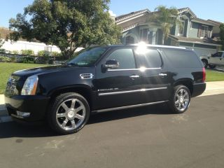2007 Cadillac Escalade Esv Black On Black Awd Navgation photo
