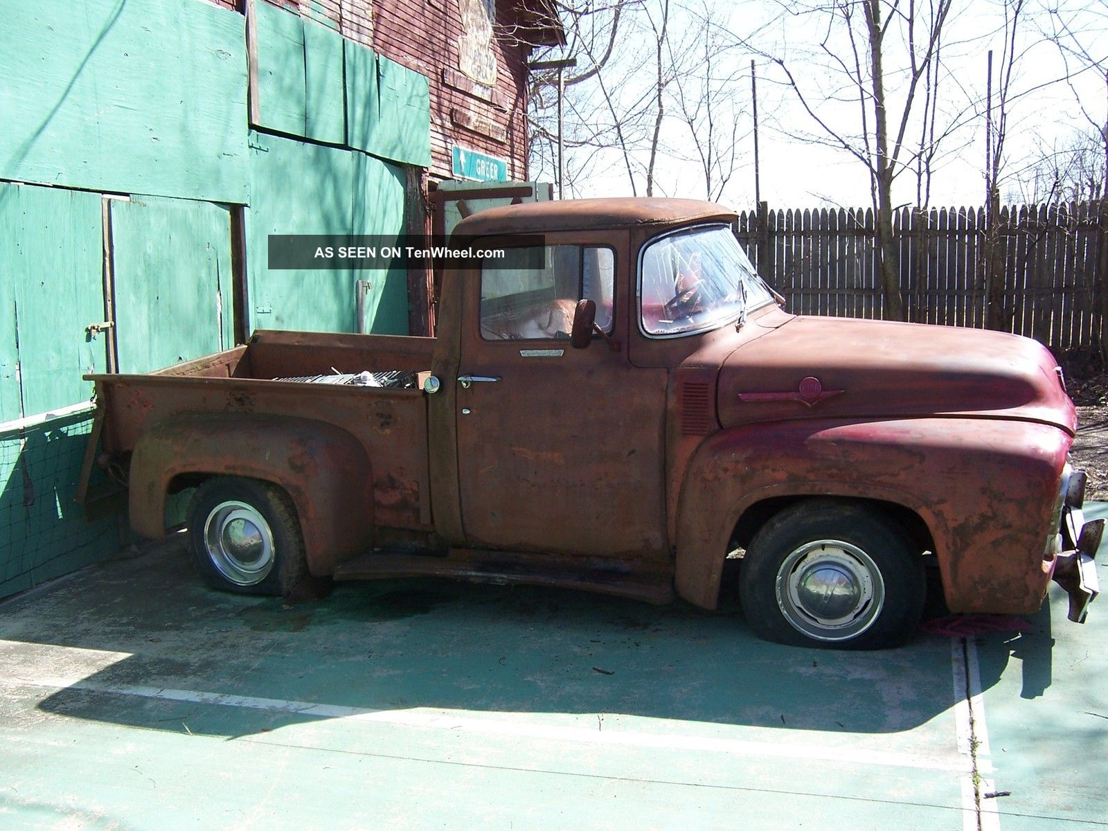 A Fe Ac E Cebb Ffeb De F D furthermore Gmc Series Truck additionally Datsun Pickup Truck likewise Ford F Short Bed Side Step Lgw additionally Maxresdefault. on 1956 dodge pickup truck
