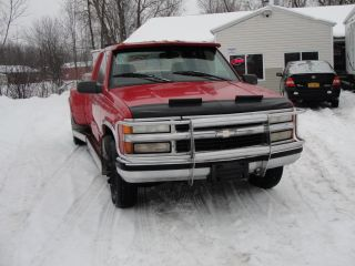 1997 97 Chevrolet Silverado K3500 3500 2wd Dually 1 Ton Car Hauler Pick Up Truck photo