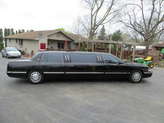1998 Cadillac Limo.  Long And Black photo