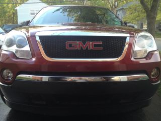 Gmc Acadia Sle 2007.  Red.  Seats. photo