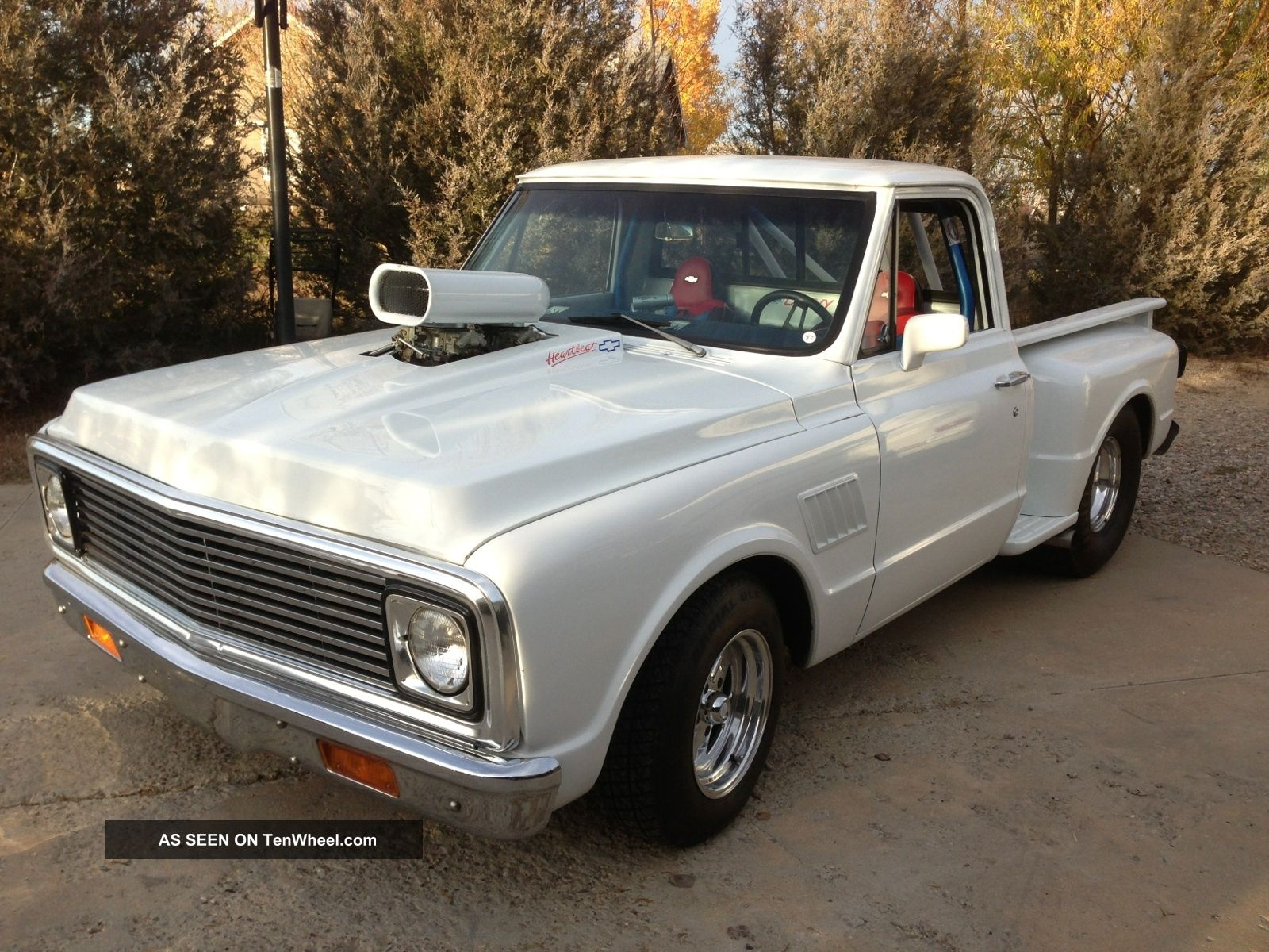 Cars Trucks Chevrolet C 10 Web Museum 1966 Truck C10 12 Ton Pu 2wd 4 1971 Chevy Short Bed Step Side Pro Street Photo