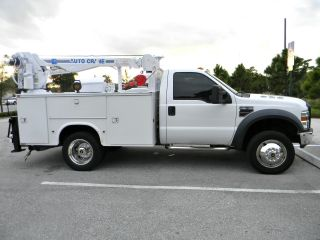 2008 Ford F550 F450 4x4 Mechanics Utility Service Crane Truck 4k Lb.  Auto Crane. photo