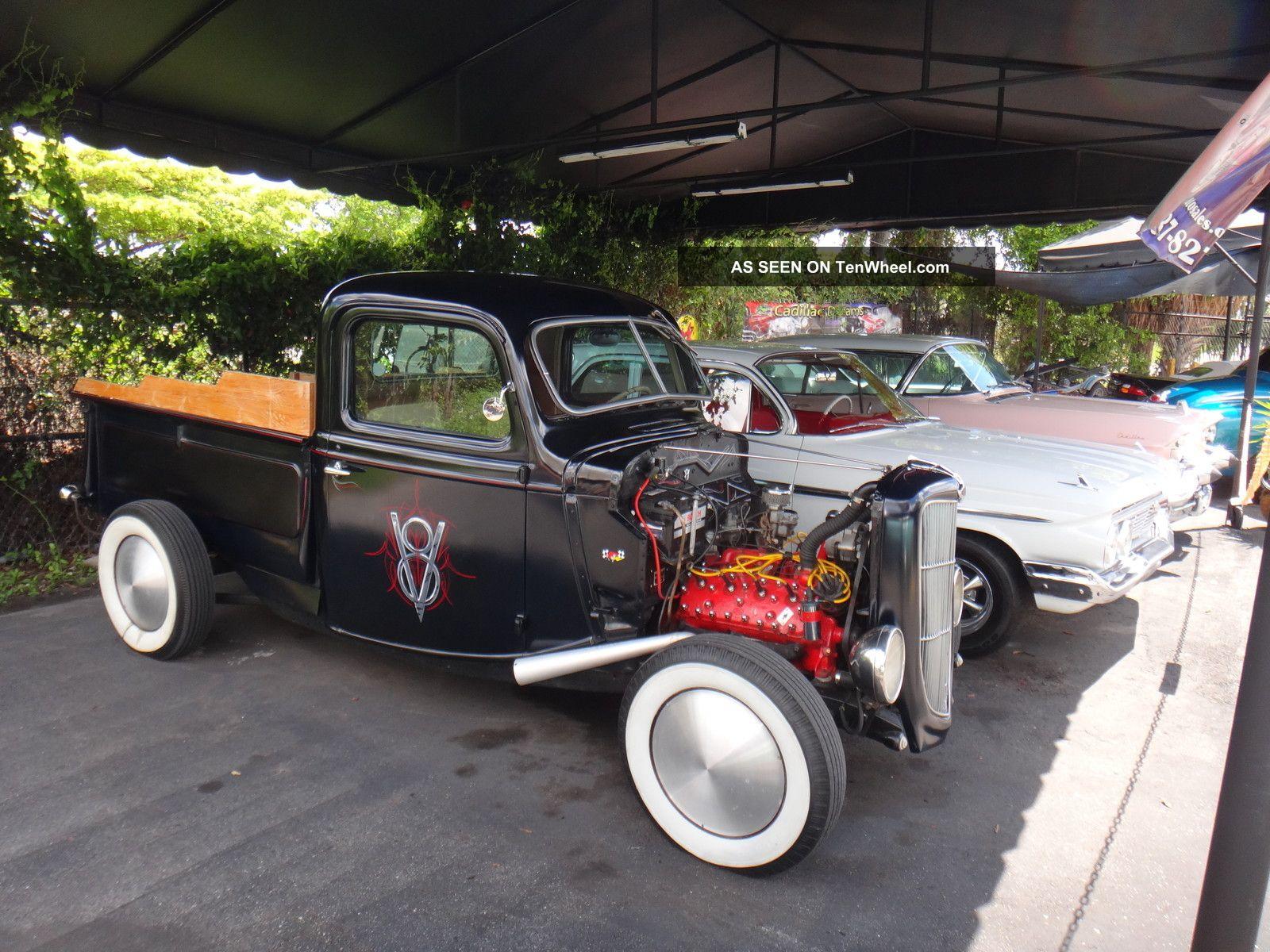 1938 Ford Flathead Rat Rod Hot Rod Mat Black Old School Pick Up