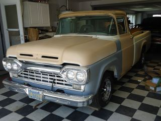 1960 Ford Custom Cab Pickup,  Custom Street Rod,  Long Box,  Wrap Around Window photo