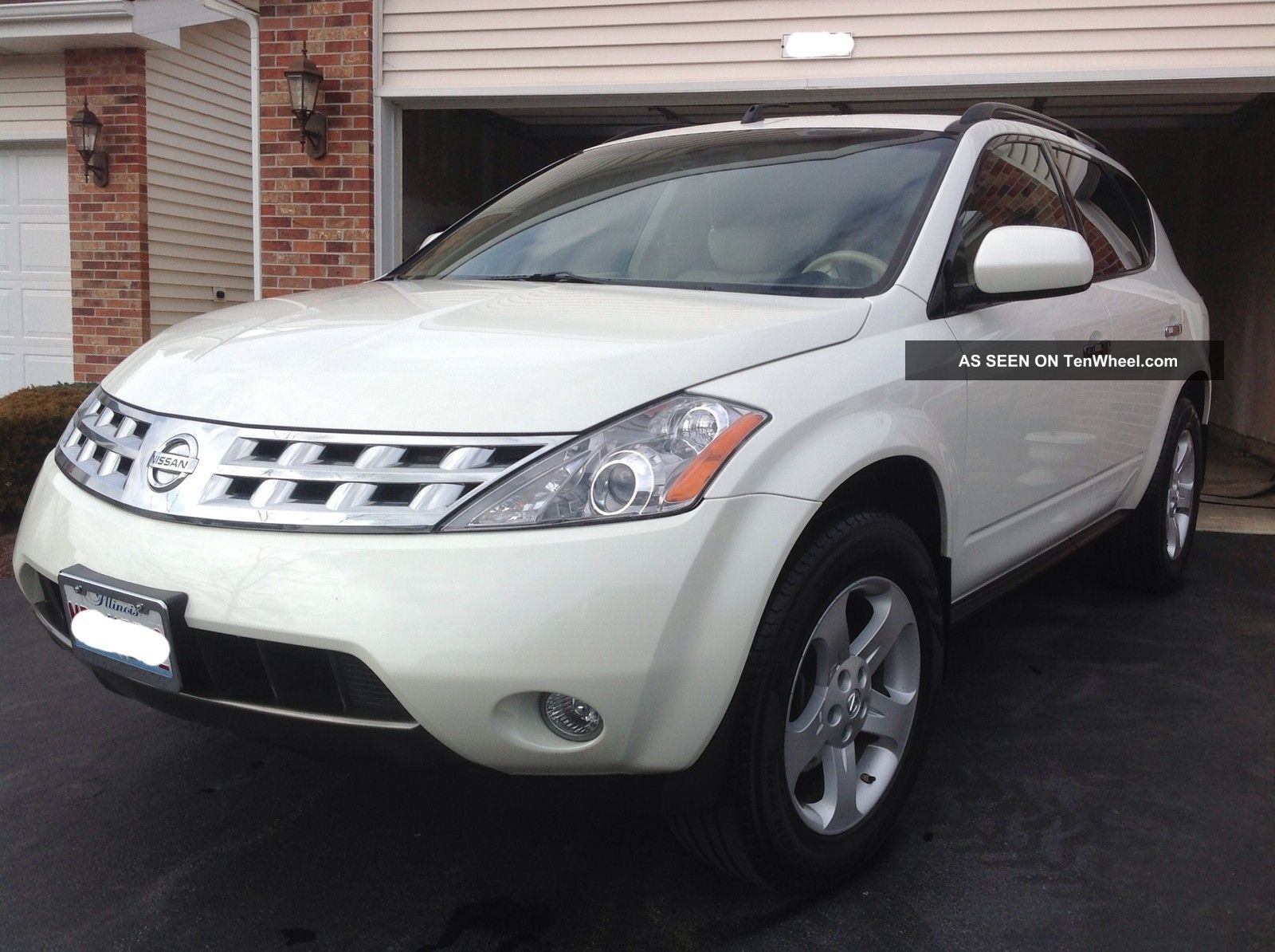 2004 Nissan Murano Sl Awd 3.  5l White Sharp Murano photo