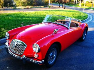 1960 Mga Red Convertable To Show photo