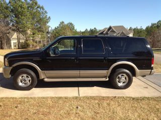 2005 Ford Excursion Eddie Bauer 6.  0 Turbo Diesel Black photo